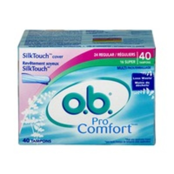 O.B. Pro Comfort Multi-Pack Regular/Super Tampons - 40 CT