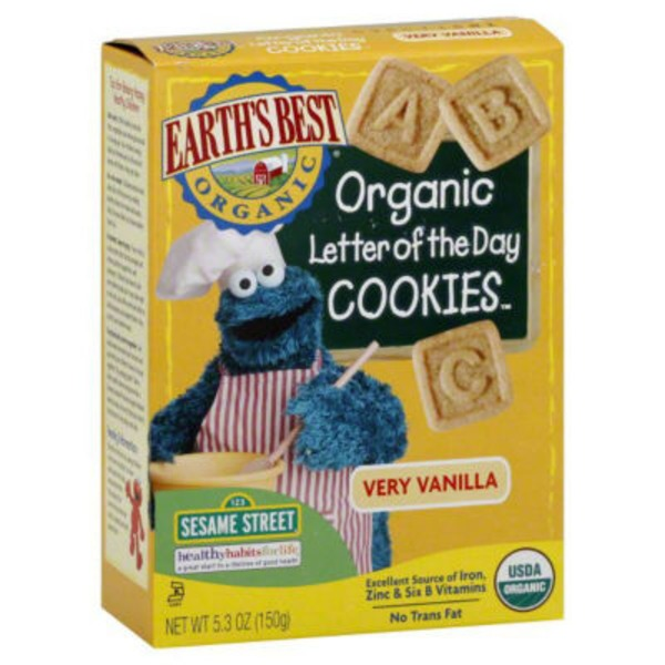 Earths Best Organic Organic Letter of the Day Very Vanilla Cookies
