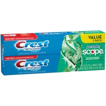 Crest Complete Multi-Benefit Whitening + Scope Fluoride Toothpaste 2-6.2 oz. Boxes