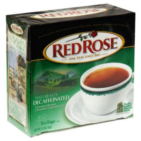 Red Rose Naturally Decaffeinated Tea Bags
