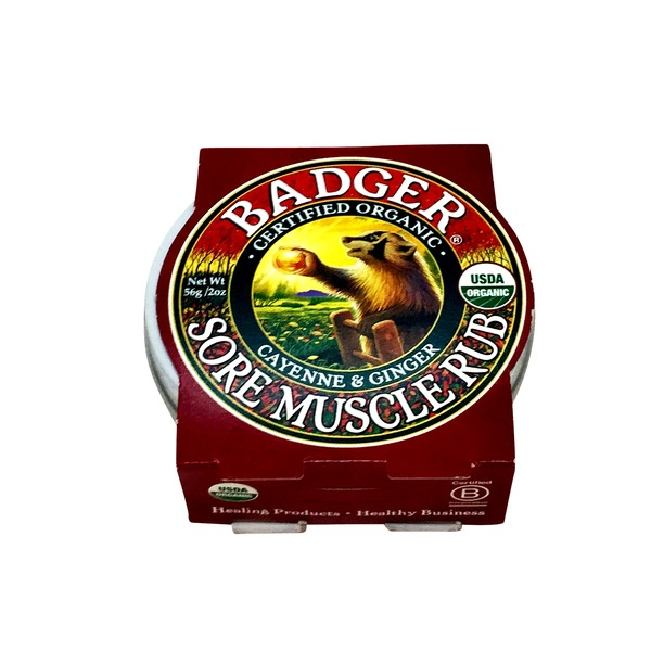 Badger Organics Cayenne And Ginger Muscle Rub