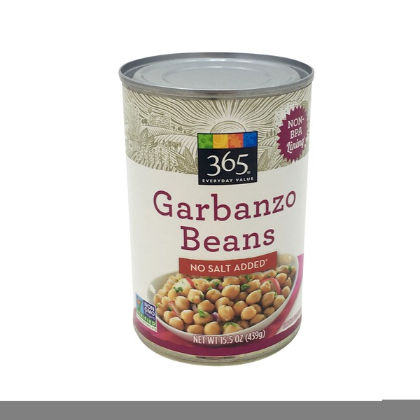 365 Unsalted Garbanzo Beans