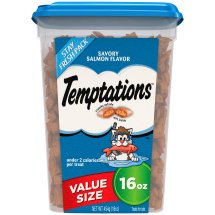TEMPTATIONS Classic Treats for Cats Savory Salmon Flavor 16 Ounces