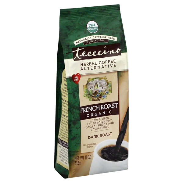 Teeccino Organic Dark French Roast Herbal Coffee Alternative