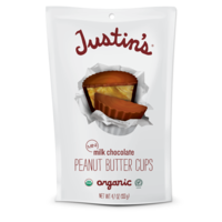 Justin's Organic Mini Peanut Butter Cups Milk Chocolate