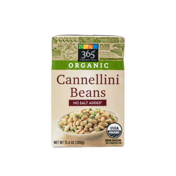 365 Organic Cannellini Beans No Salt Added