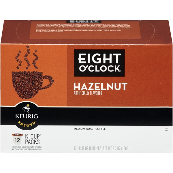 Eight O'Clock Coffee Hazelnut K-Cup Packs Coffee