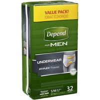 Depend Men Maximum Absorbency S/M Underwear