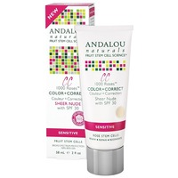Andalou Naturals 1000 Roses Color + Correct Sheer Nude SPF 30 for Sensitive Skin