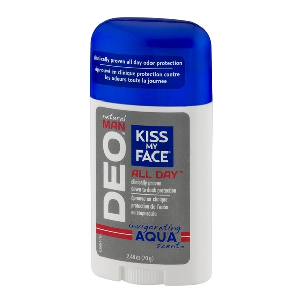 Kiss My Face Natural Man Deo All Day Deodorant Aqua Scent