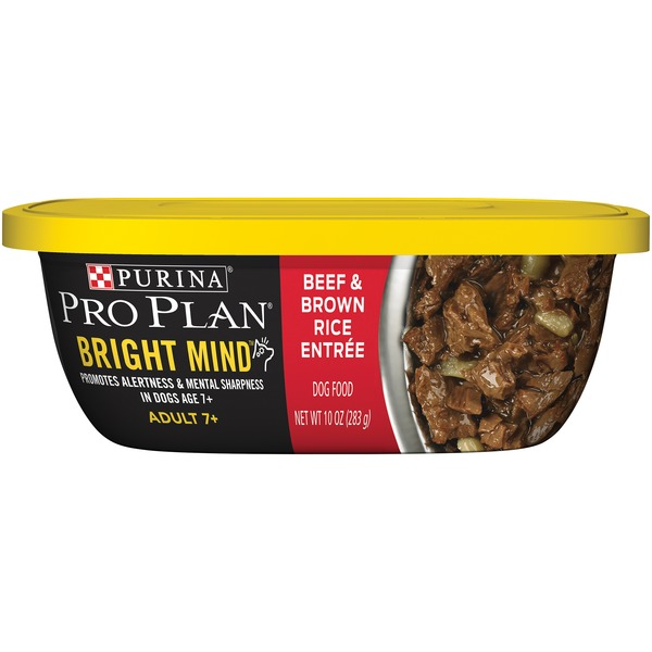 Pro Plan Dog Wet Bright Mind Adult 7+ Beef & Brown Rice Entree Dog Food