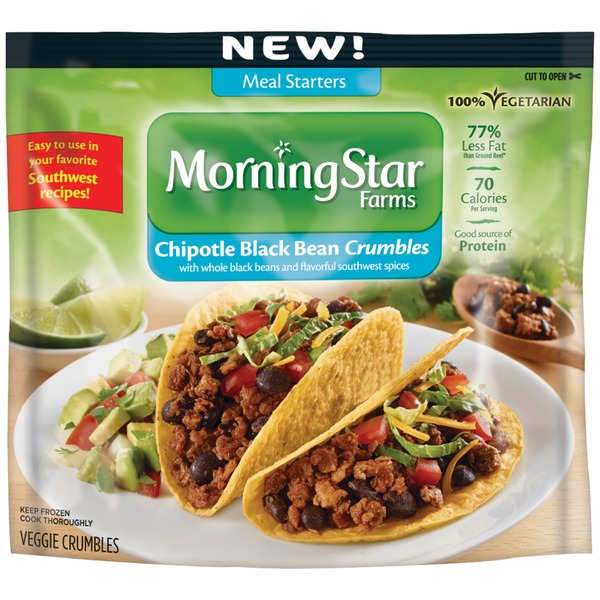 Morning Star Farms Meal Starters Chipotle Black Bean Crumbles Veggie Crumbles