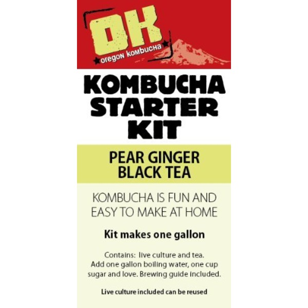 Oregon Kombucha Basic Pear Ginger Black Tea Kit
