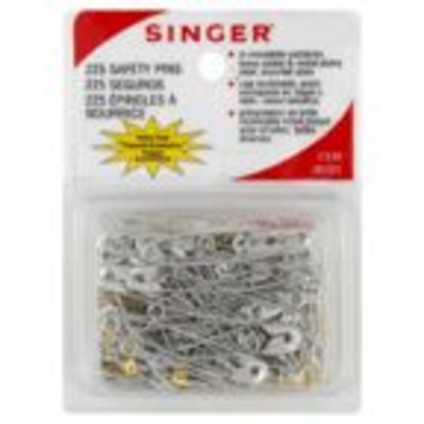 Singer Safety Pins, Assorted Sizes
