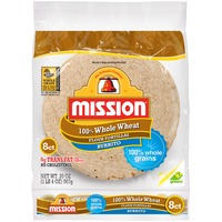 Mission 100% Whole Wheat Flour Burrito Tortillas
