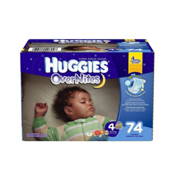 Huggies Overnites Size 4 Diapers