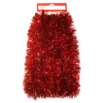 Young Craft 15' Soft and Silky Tinsel Garland Red