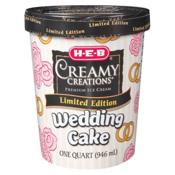 H-E-B Creamy Creations Wedding Cake Ice Cream
