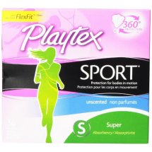Playtex Femcare Sport Unscented Super Tampons, 36ct