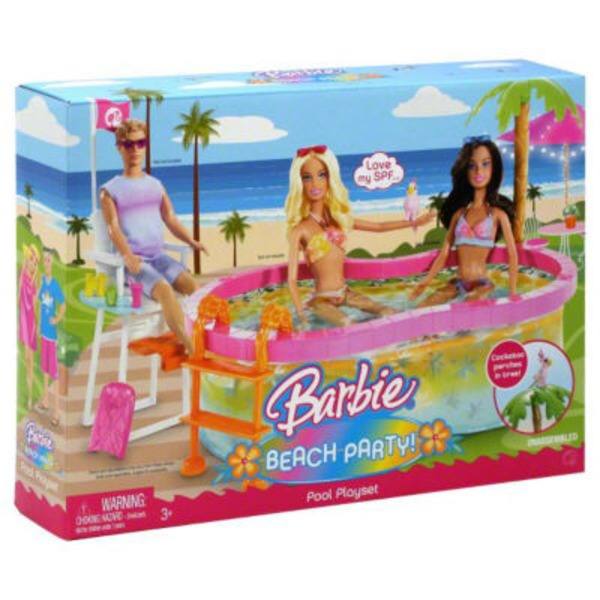 Mattel Barbie Beach Party Pool Playset