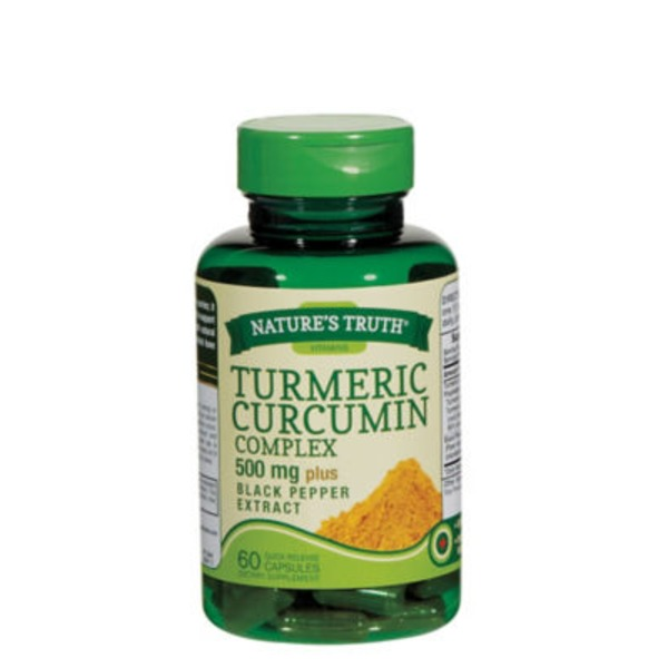 Nature's Truth Organic Turmeric Curcumin Complex 500mg Plus Black Pepper Extract Capsules - 60 CT