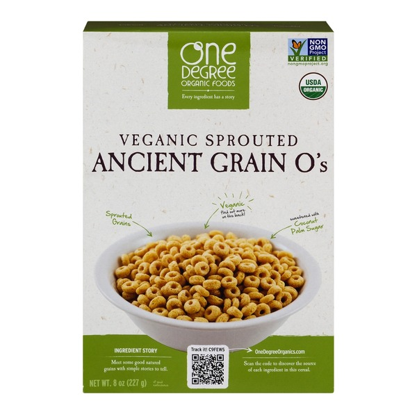 One Degree Organics Veganic Sprouted Ancient Grain O's