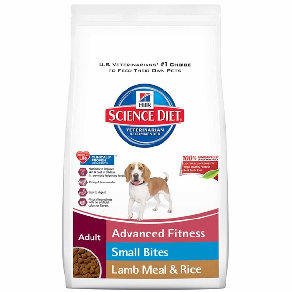 Hill's Science Diet Adult Advanced Fitness Small Bites Lamb Meal & Rice Dog Food