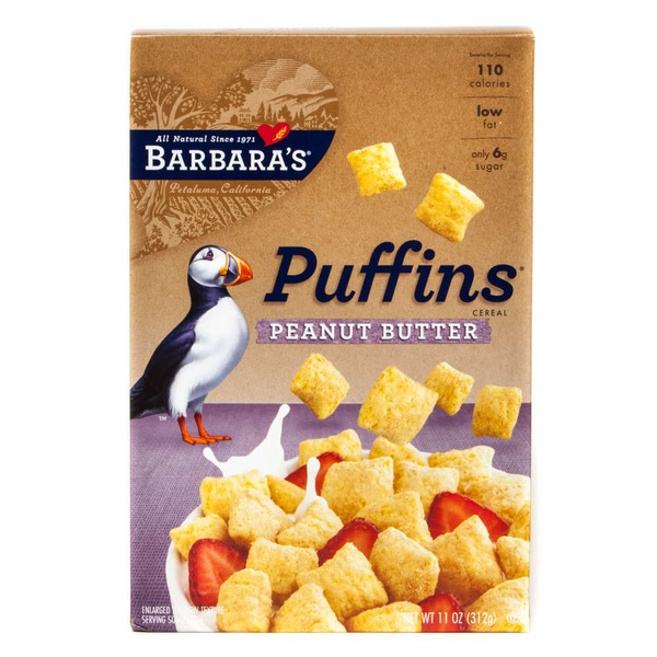Puffins Peanut Butter/Original Cereal Display