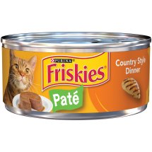 Purina Friskies Paté Country Style Dinner Cat Food 5.5 oz. Can