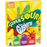 Betty Crocker Fruit Gushers Super Sour Crabby Apple Grumpy Grape and Scary Cherry, 6 ct, 5.4 oz, 6.0 CT