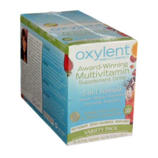 Vitalah Oxylent Variety Pack Multivitamin Drink Packets