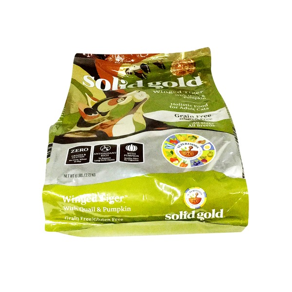 Solid Gold Winged Tiger with Quail & Pumpkin Holistic Food for Adult Cats Gluten Free