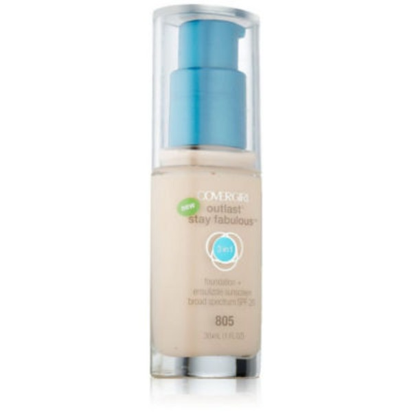 CoverGirl Outlast All Day COVERGIRL Outlast All-Day Stay Fabulous 3-in-1 Foundation, Ivory 1 fl oz (30 ml) Female Cosmetics