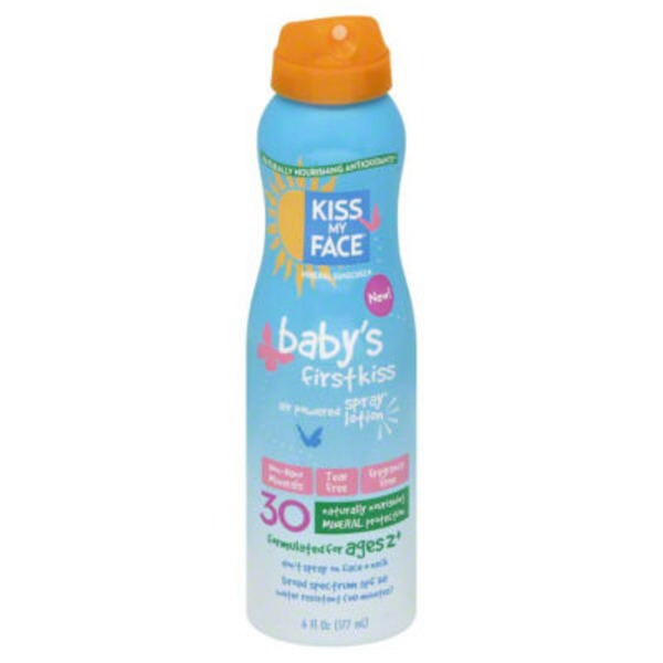 Kiss My Face Baby's First Kiss Air Powered Spray Lotion SPF 30