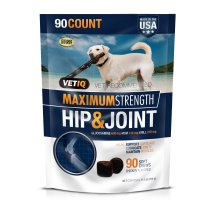 Vetiq Maximum Strength Dog Hip & Joint Medicine - Hip and Joint Medicine for Dogs Chew Treat, 90 Count