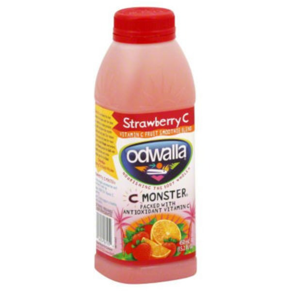 Odwalla Strawberry C Monster Flavored 4 Juice Smoothie Blend