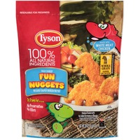 Tyson Frozen Breaded Breaded Shaped Chicken Patties Fun Nuggets