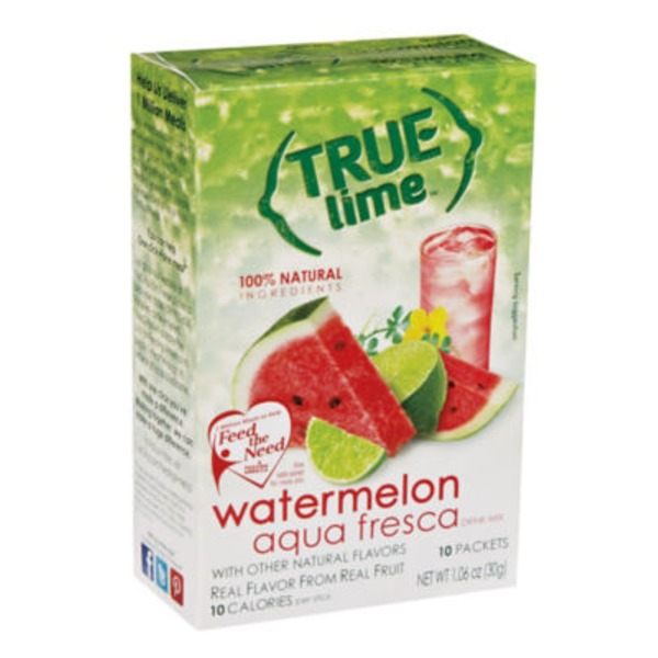 True Lime Watermelon Aqua Fresca Drink Mix Packets