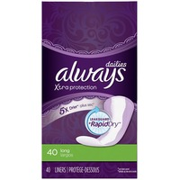 Always Xtra Protection Always Xtra Protection Daily Liners, Long 40 Count Feminine Care