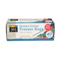 365 Double Zipper Quart Freezer Bag
