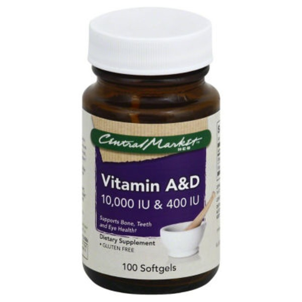 Central Market Vitamin A And D 10000 Iu And 400 Iu Softgels