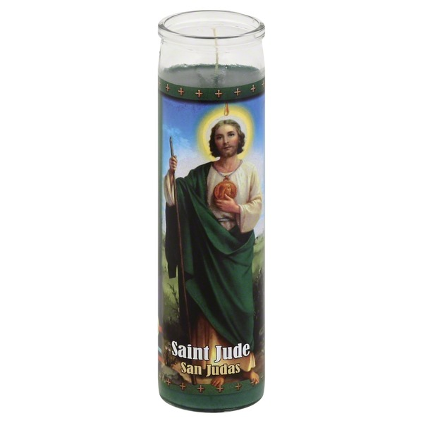 St Jude Candle Candle, Saint Jude, 8.2 Inch