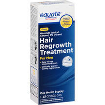 Equate Hair Regrowth Treatment for Men Minoxidil Topical Aerosol 5% (Foam)