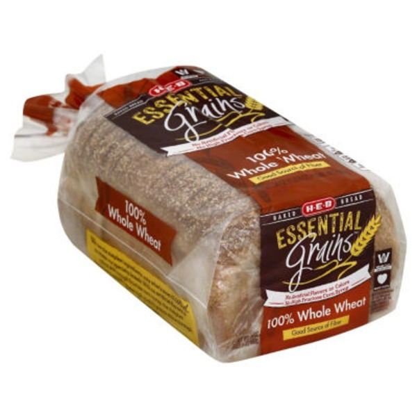 H-E-B Essential Grains 100%  Whole Wheat Bread