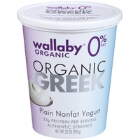 Wallaby Organic Greek Plain Nonfat Yogurt