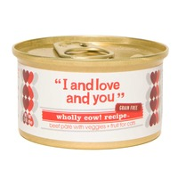 I and Love and You Wholly Cow! Beef Pate and Vegetables Cat Food