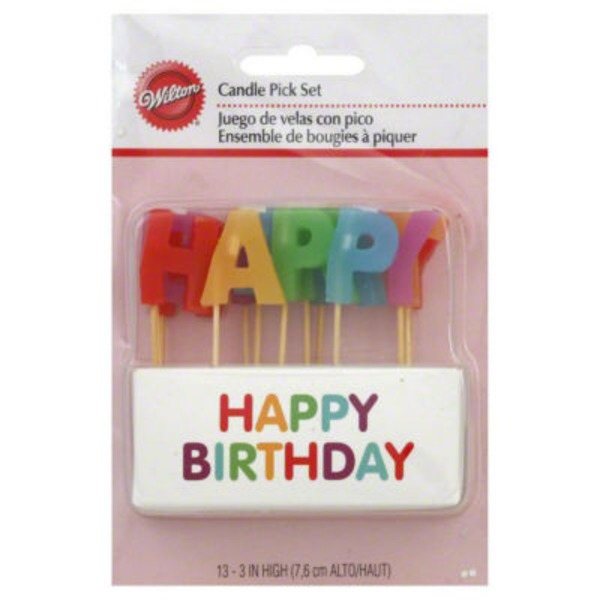 Wilton Happy Birthday Candle Pick Set