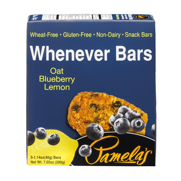 Pamela's Whenever Bars Oat Blueberry Lemon - 5 CT