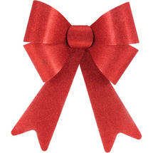 Holiday Time Christmas Red Sparkle Long Tail Bow