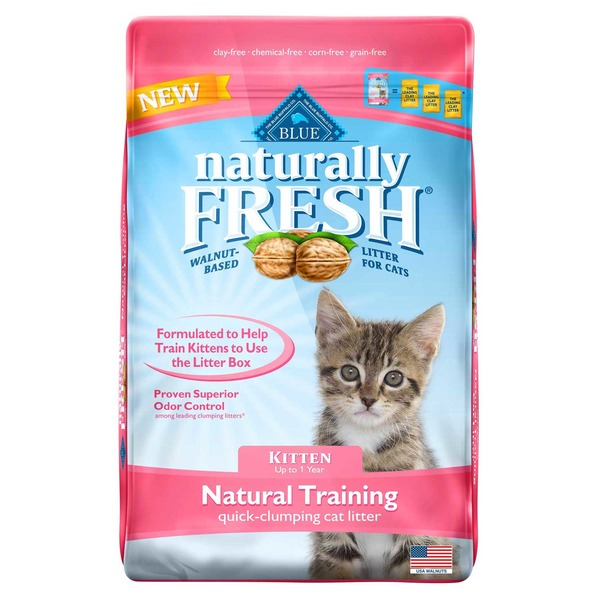 Blue Buffalo Litter, Naturally Fresh, Natural Training, Kitten, Up to 1 Year, Bag